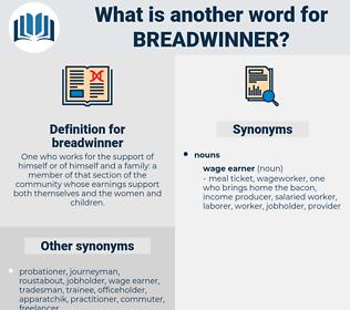 breadwinner, synonym breadwinner, another word for breadwinner, words like breadwinner, thesaurus breadwinner