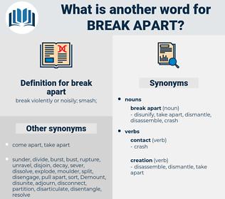 break apart, synonym break apart, another word for break apart, words like break apart, thesaurus break apart