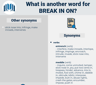 break in on, synonym break in on, another word for break in on, words like break in on, thesaurus break in on