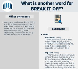 break it off, synonym break it off, another word for break it off, words like break it off, thesaurus break it off