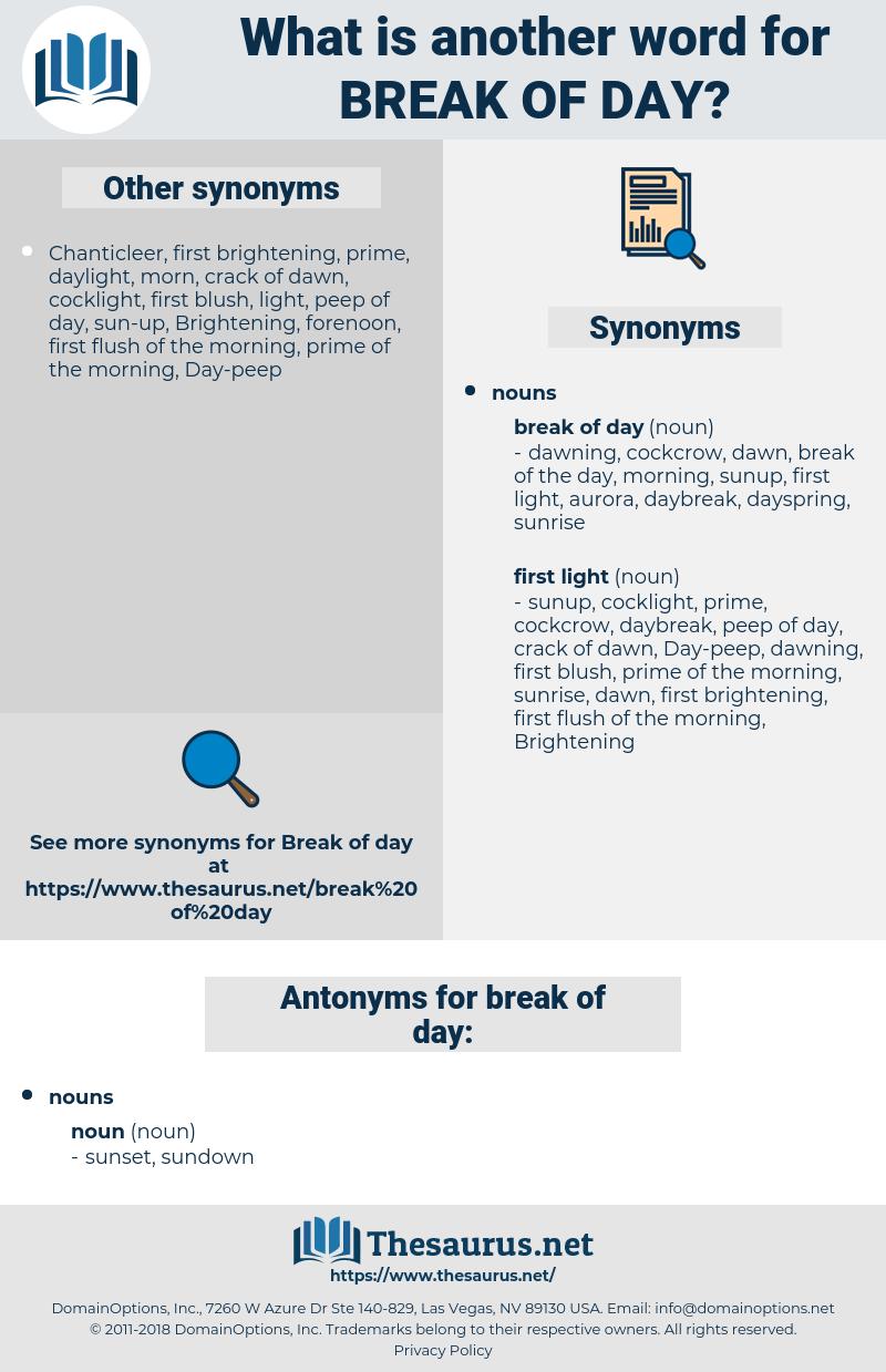 break of day, synonym break of day, another word for break of day, words like break of day, thesaurus break of day