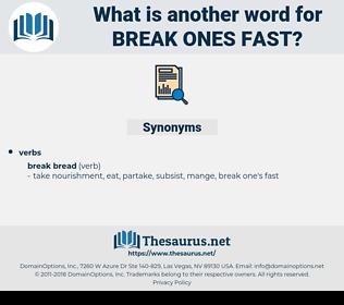break ones fast, synonym break ones fast, another word for break ones fast, words like break ones fast, thesaurus break ones fast