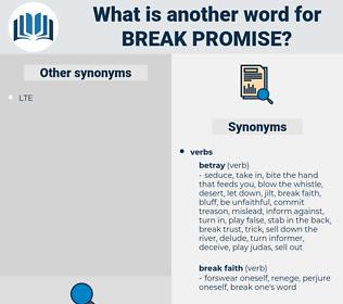 break promise, synonym break promise, another word for break promise, words like break promise, thesaurus break promise