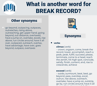 break record, synonym break record, another word for break record, words like break record, thesaurus break record