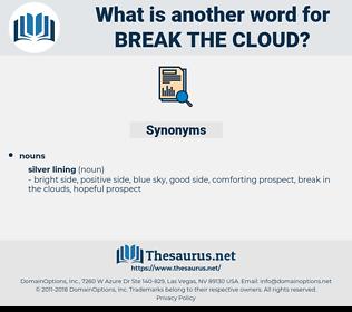 break the cloud, synonym break the cloud, another word for break the cloud, words like break the cloud, thesaurus break the cloud