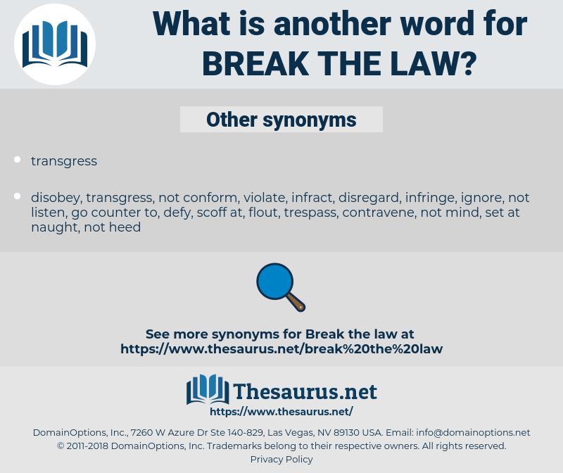 break the law, synonym break the law, another word for break the law, words like break the law, thesaurus break the law
