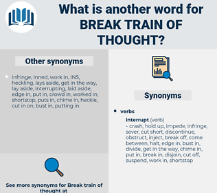 break train of thought, synonym break train of thought, another word for break train of thought, words like break train of thought, thesaurus break train of thought