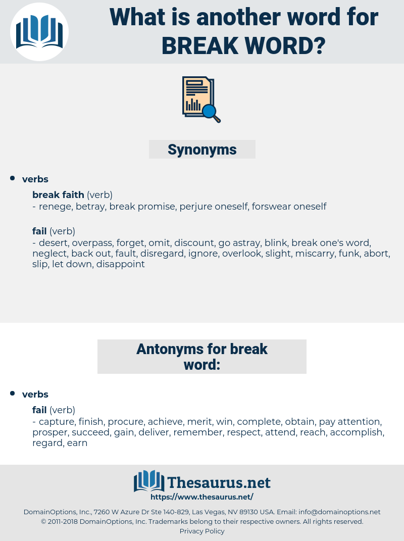 break word, synonym break word, another word for break word, words like break word, thesaurus break word