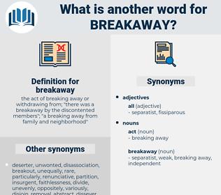 breakaway, synonym breakaway, another word for breakaway, words like breakaway, thesaurus breakaway