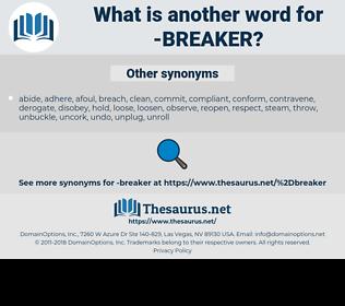 breaker, synonym breaker, another word for breaker, words like breaker, thesaurus breaker