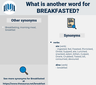 breakfasted, synonym breakfasted, another word for breakfasted, words like breakfasted, thesaurus breakfasted