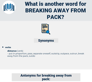 breaking away from pack, synonym breaking away from pack, another word for breaking away from pack, words like breaking away from pack, thesaurus breaking away from pack
