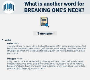 breaking one's neck, synonym breaking one's neck, another word for breaking one's neck, words like breaking one's neck, thesaurus breaking one's neck
