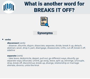 breaks it off, synonym breaks it off, another word for breaks it off, words like breaks it off, thesaurus breaks it off