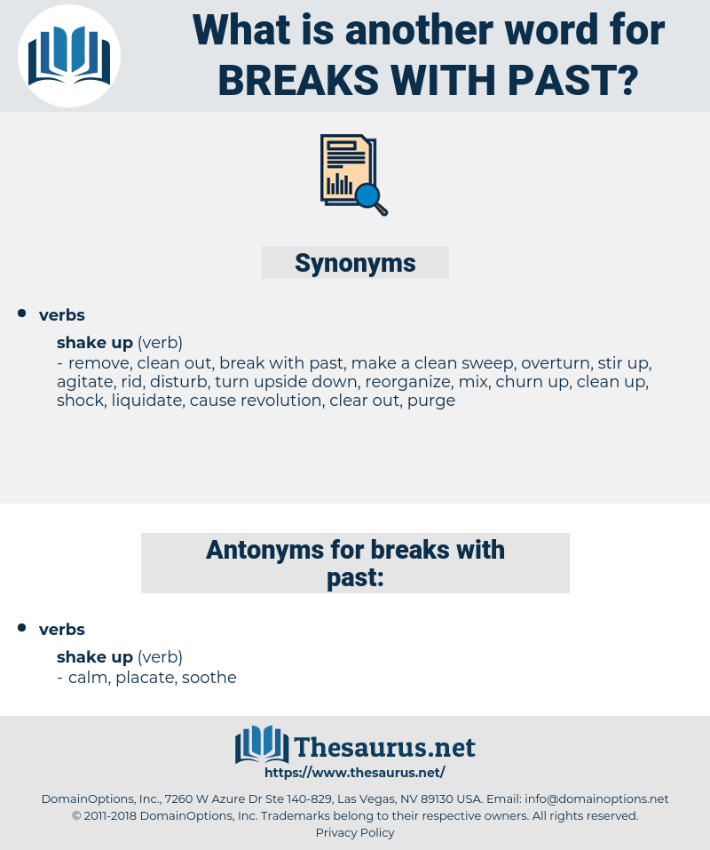 breaks with past, synonym breaks with past, another word for breaks with past, words like breaks with past, thesaurus breaks with past