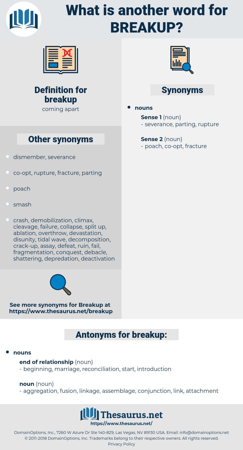 breakup, synonym breakup, another word for breakup, words like breakup, thesaurus breakup