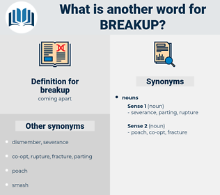 breakup, synonym breakup, another word for breakup, words like breakup, thesaurus breakup