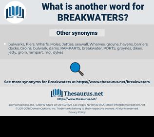 breakwaters, synonym breakwaters, another word for breakwaters, words like breakwaters, thesaurus breakwaters