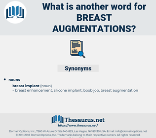breast augmentations, synonym breast augmentations, another word for breast augmentations, words like breast augmentations, thesaurus breast augmentations