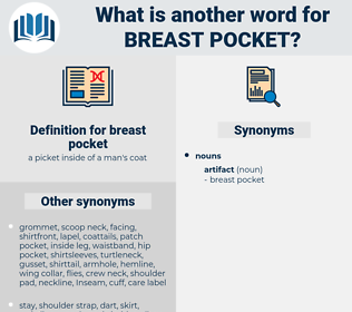 breast pocket, synonym breast pocket, another word for breast pocket, words like breast pocket, thesaurus breast pocket