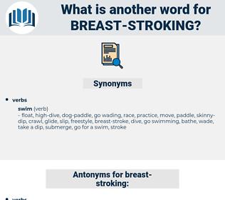 breast-stroking, synonym breast-stroking, another word for breast-stroking, words like breast-stroking, thesaurus breast-stroking
