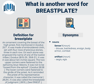 breastplate, synonym breastplate, another word for breastplate, words like breastplate, thesaurus breastplate