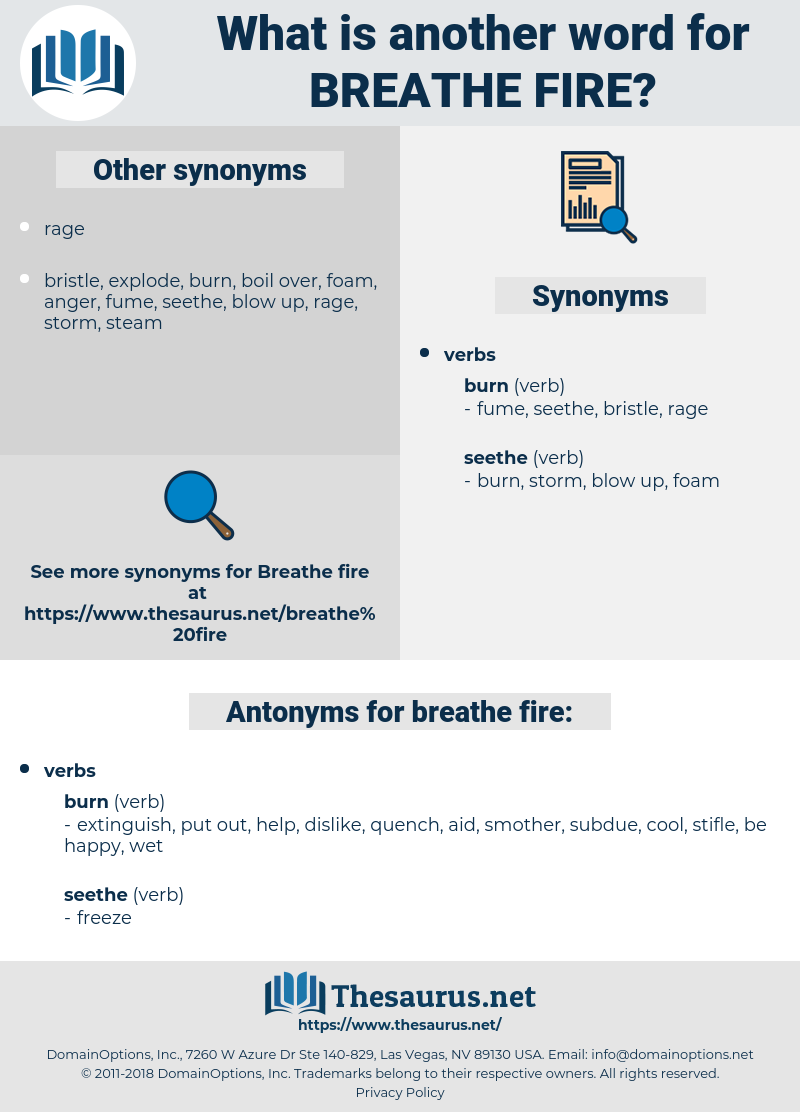 breathe fire, synonym breathe fire, another word for breathe fire, words like breathe fire, thesaurus breathe fire