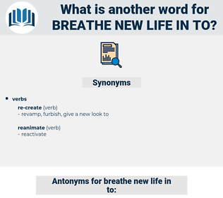 breathe new life in to, synonym breathe new life in to, another word for breathe new life in to, words like breathe new life in to, thesaurus breathe new life in to