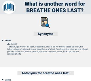 breathe ones last, synonym breathe ones last, another word for breathe ones last, words like breathe ones last, thesaurus breathe ones last