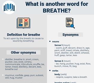 breathe, synonym breathe, another word for breathe, words like breathe, thesaurus breathe