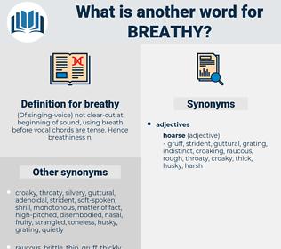 breathy, synonym breathy, another word for breathy, words like breathy, thesaurus breathy