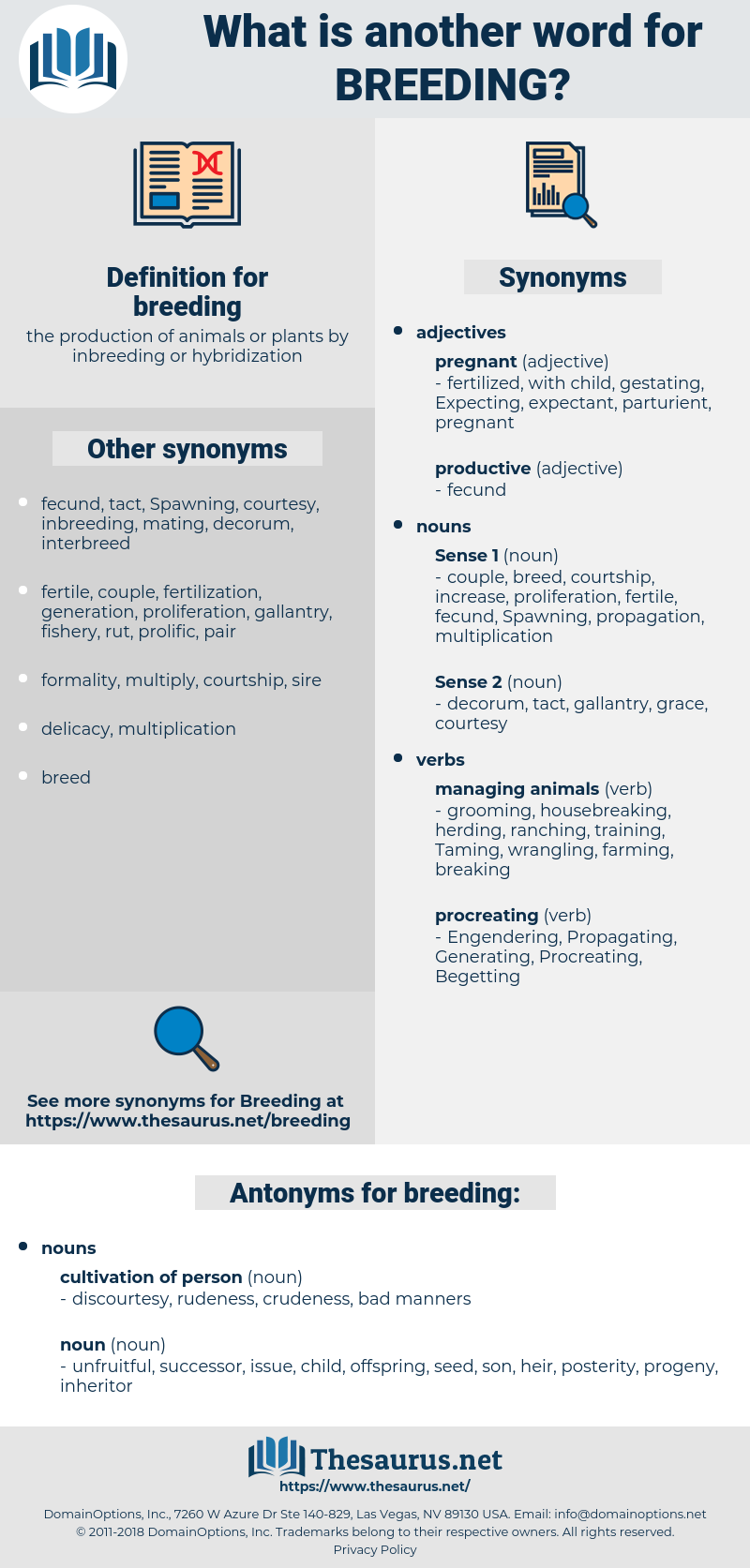 breeding, synonym breeding, another word for breeding, words like breeding, thesaurus breeding
