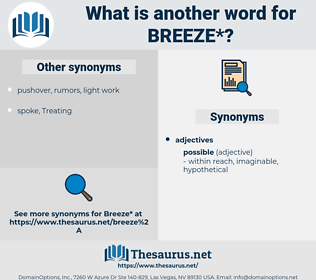 breeze, synonym breeze, another word for breeze, words like breeze, thesaurus breeze
