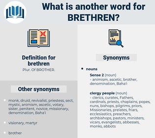 brethren, synonym brethren, another word for brethren, words like brethren, thesaurus brethren