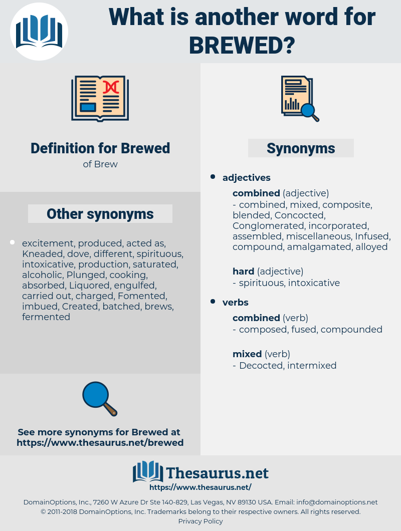 Brewed, synonym Brewed, another word for Brewed, words like Brewed, thesaurus Brewed