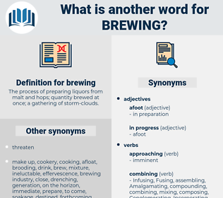 brewing, synonym brewing, another word for brewing, words like brewing, thesaurus brewing