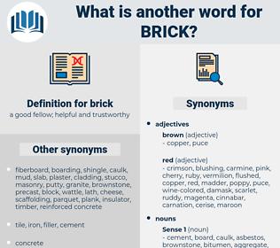 brick, synonym brick, another word for brick, words like brick, thesaurus brick