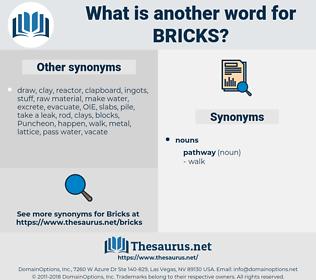 BRICKS, synonym BRICKS, another word for BRICKS, words like BRICKS, thesaurus BRICKS