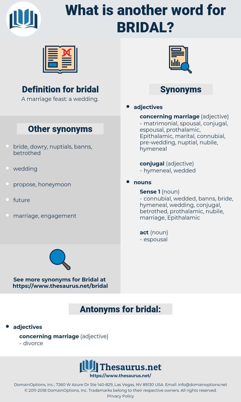 bridal, synonym bridal, another word for bridal, words like bridal, thesaurus bridal