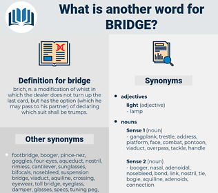 bridge, synonym bridge, another word for bridge, words like bridge, thesaurus bridge
