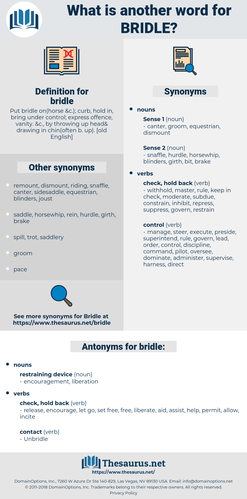 bridle, synonym bridle, another word for bridle, words like bridle, thesaurus bridle