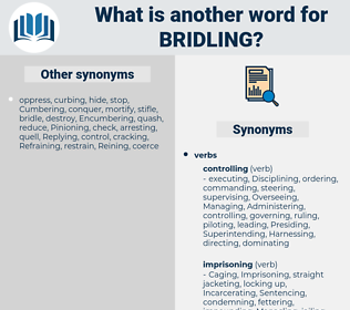 Bridling, synonym Bridling, another word for Bridling, words like Bridling, thesaurus Bridling