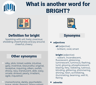 bright, synonym bright, another word for bright, words like bright, thesaurus bright