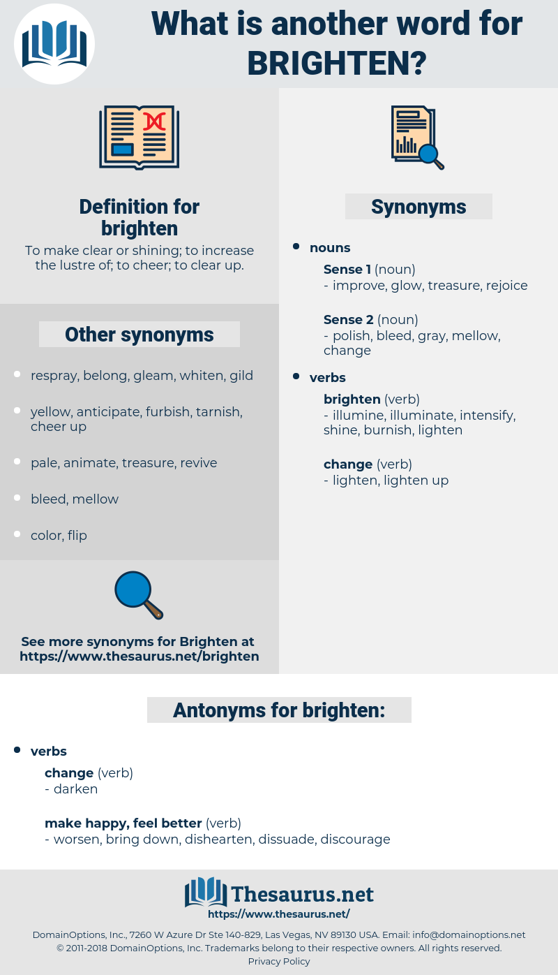 brighten, synonym brighten, another word for brighten, words like brighten, thesaurus brighten