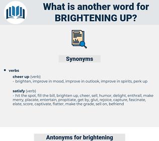 brightening up, synonym brightening up, another word for brightening up, words like brightening up, thesaurus brightening up