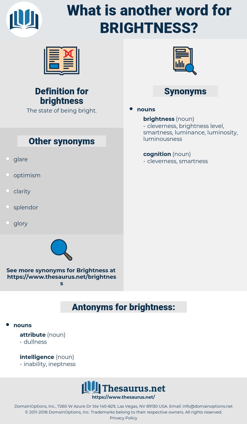brightness, synonym brightness, another word for brightness, words like brightness, thesaurus brightness