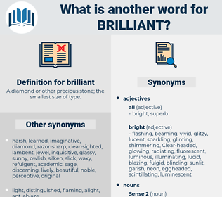 brilliant, synonym brilliant, another word for brilliant, words like brilliant, thesaurus brilliant