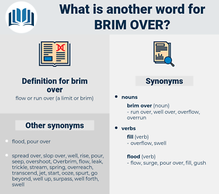 brim over, synonym brim over, another word for brim over, words like brim over, thesaurus brim over
