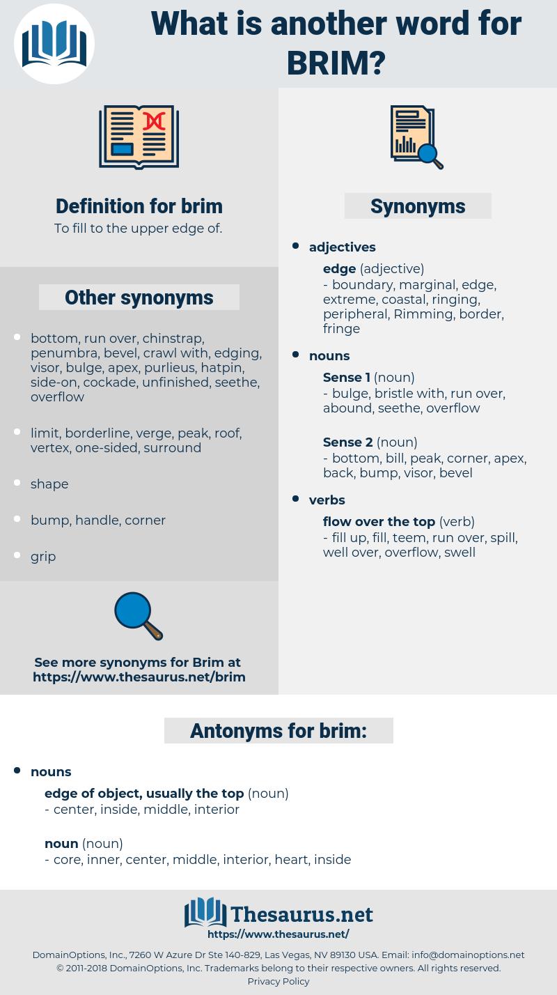 brim, synonym brim, another word for brim, words like brim, thesaurus brim