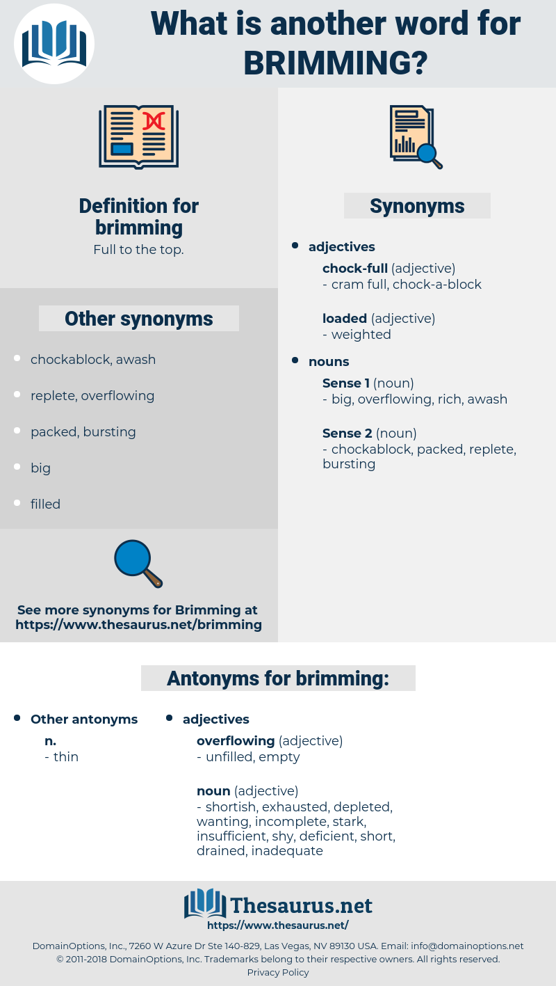brimming, synonym brimming, another word for brimming, words like brimming, thesaurus brimming